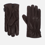 Hestra Deerskin Drivers Lined Men's Gloves Dark Brown photo- 0