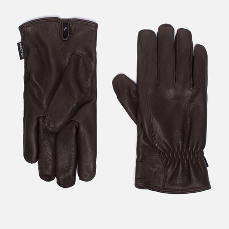 Hestra Deerskin Drivers Lined Men's Gloves Dark Brown