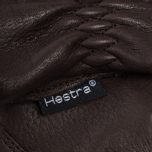 Мужские перчатки Hestra Deerskin Drivers Lined Dark Brown фото- 2