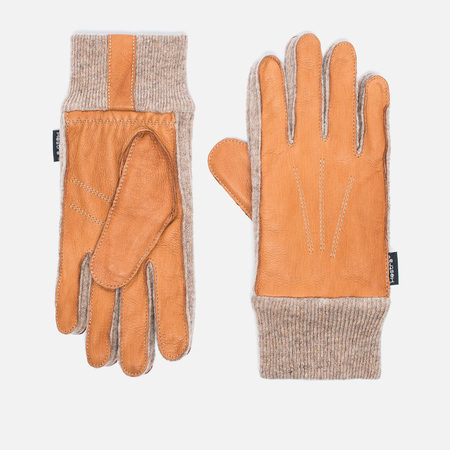Hestra Deerskin Sandwich Gloves Brown
