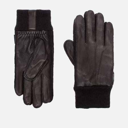 Hestra Deerskin Sandwich Gloves Dark Brown