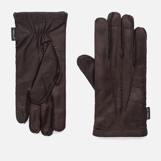 Мужские перчатки Hestra Matthew Dark Brown