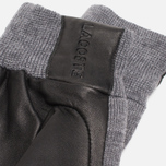 Мужские перчатки Lacoste Gloves Wool Leather Grey/Black фото- 2