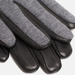Мужские перчатки Lacoste Gloves Wool Leather Grey/Black фото- 1