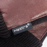 Женские перчатки Hestra Deerskin Sandwich Dark Brown фото- 1
