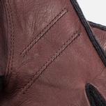 Женские перчатки Hestra Deerskin Sandwich Dark Brown фото- 2