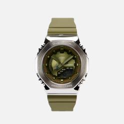 Наручные часы CASIO G-SHOCK GM-S2100-3AER Metal Covered Olive/Silver/Olive