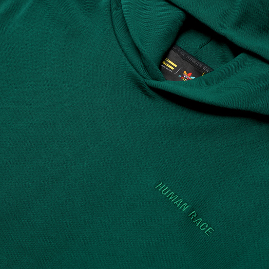 Мужская толстовка adidas Originals x Pharrell Williams Basics Hoodie Dark Green