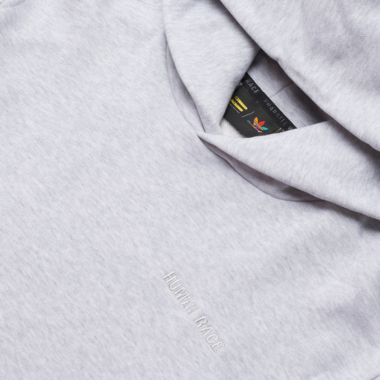 Мужская толстовка adidas Originals x Pharrell Williams Basics Hoodie Light Grey Heather