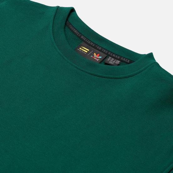 Мужская толстовка adidas Originals x Pharrell Williams Basics Crew Dark Green