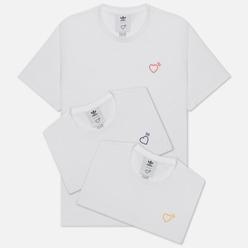 Комплект мужских футболок adidas Originals x Human Made 3-Pack White