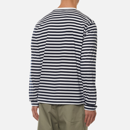 Мужской лонгслив adidas Originals x Human Made Stripe White/Collegiate Navy