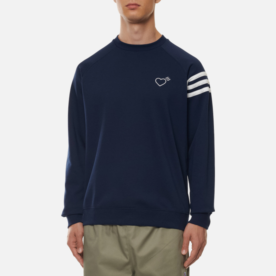Мужская толстовка adidas Originals x Human Made Crew Neck Collegiate Navy