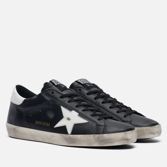 Мужские кроссовки Golden Goose Superstar Leather/Shiny Leather Star Black/White