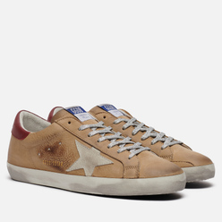 Мужские кроссовки Golden Goose Superstar Nabuk/Suede Star Incense/Ice/Bordeaux