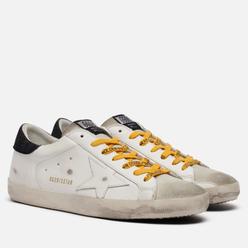 Мужские кроссовки Golden Goose Superstar Leather/Canvas Star White/Ice/Black