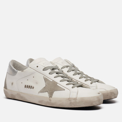 Мужские кроссовки Golden Goose Superstar Leather/Suede Star White/Ice/Silver