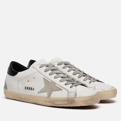Мужские кроссовки Golden Goose Superstar Leather/Suede Star White/Ice/Black