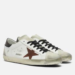 Мужские кроссовки Golden Goose Super-Star Leather/Suede Star White/Chestnut/Ice