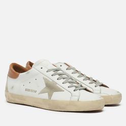 Мужские кроссовки Golden Goose Super-Star Leather/Suede Star White/Ice/Light Brown