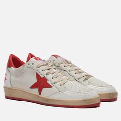 Мужские кроссовки Golden Goose Ball Star Nappa/Matt Leather Star White/Strawberry Red