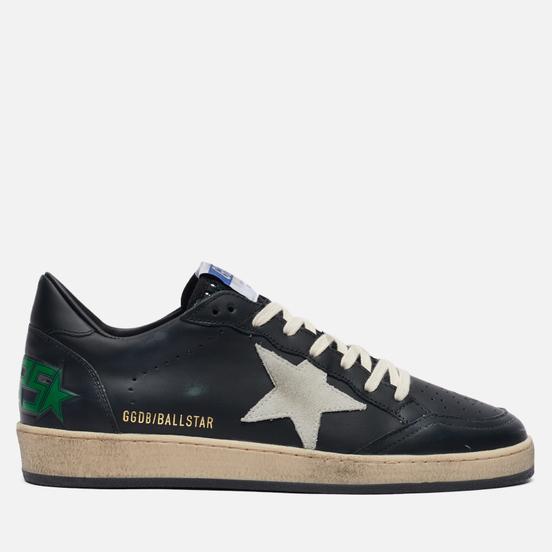 Мужские кроссовки Golden Goose Ball Star Leather/Suede Star Black/Ice