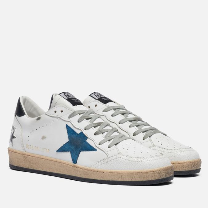 Мужские кроссовки Golden Goose Ball Star Crack Toe Leather/Suede Star