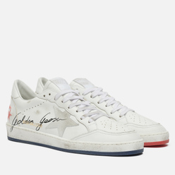 Мужские кроссовки Golden Goose Ball Star Leather/Suede Star White/Blue/Red
