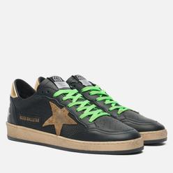 Мужские кроссовки Golden Goose Ball Star Leather/Leopard Horsy Star Black/Beige/Brown Leo/Gold