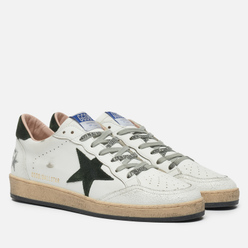Мужские кроссовки Golden Goose Ball Star Leather/Suede Star White/Military Green