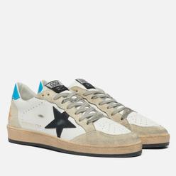 Мужские кроссовки Golden Goose Ball Star Leather/Star Suede White/Beige/Black/Cyan Blue