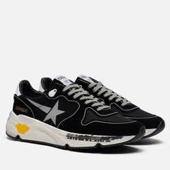Мужские кроссовки Golden Goose Running Sole Lycra/Print Star Black/Silver/White