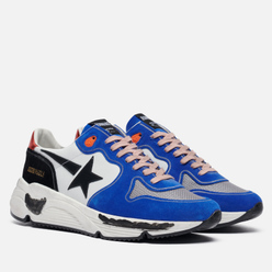 Мужские кроссовки Golden Goose Running Sole Leather/Leather Star White/Bluette/Silver/Black/Red