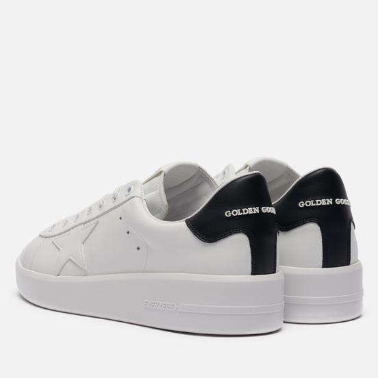Мужские кроссовки Golden Goose Purestar Leather/Leather Star White/Black