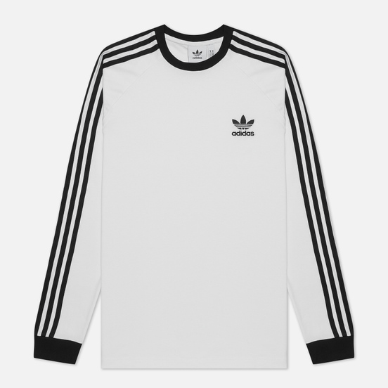 Мужской лонгслив adidas Originals Adicolor 3-Stripes LS White