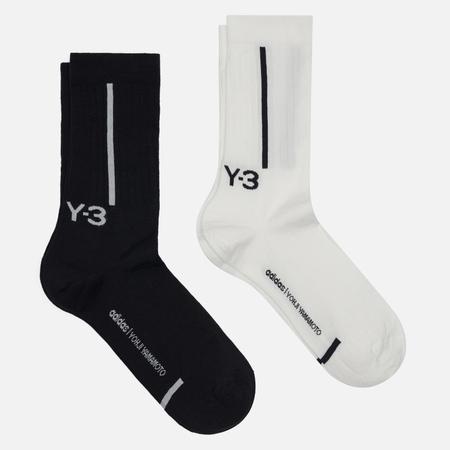 Комплект носков Y-3 Crew 2-Pack, цвет чёрный, размер 43-45 EU