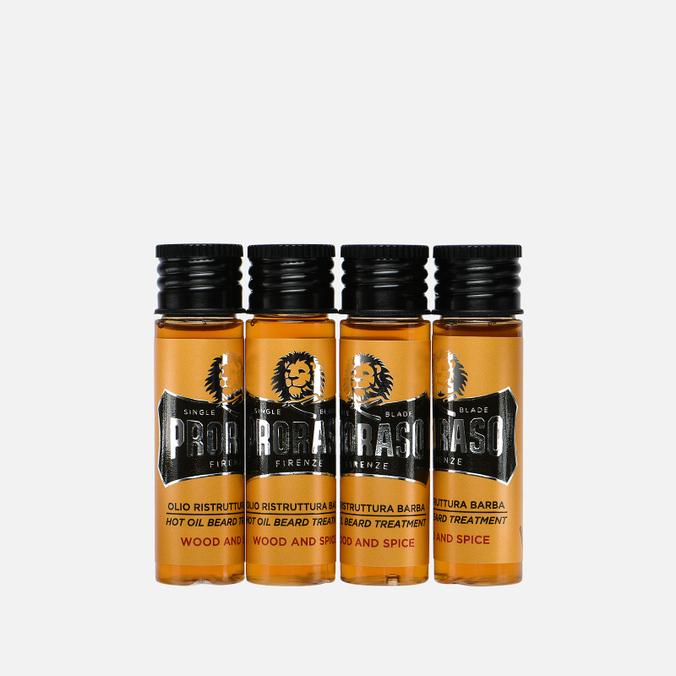 Горячее масло для бороды Proraso Wood & Spice 4x17ml