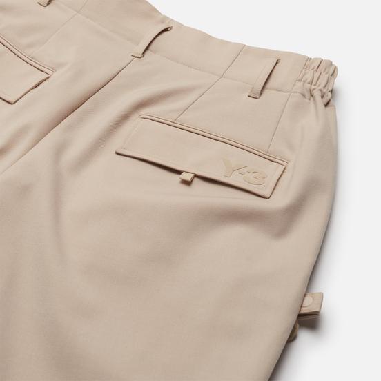 Мужские брюки Y-3 Classic Refined Wool Stretch Cuffed Sand