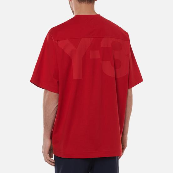Мужская футболка Y-3 Classic Offset Logo Scarlet