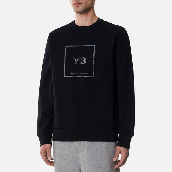 Мужская толстовка Y-3 Square Label Graphic Crew Neck Black