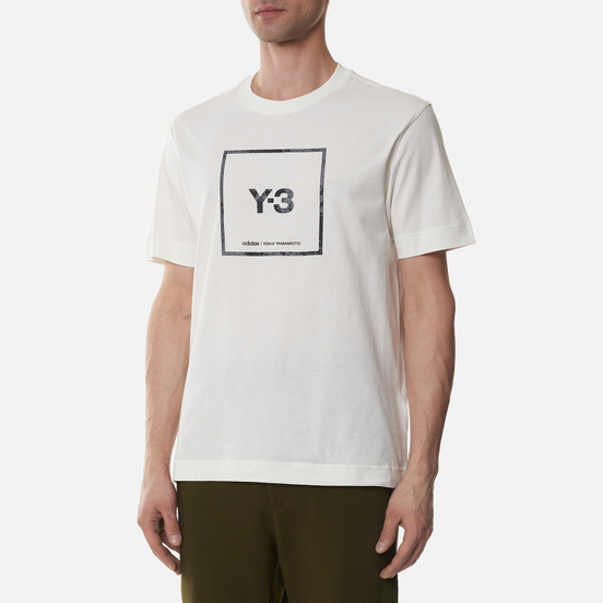 Мужская футболка Y-3 Square Label Graphic Core White