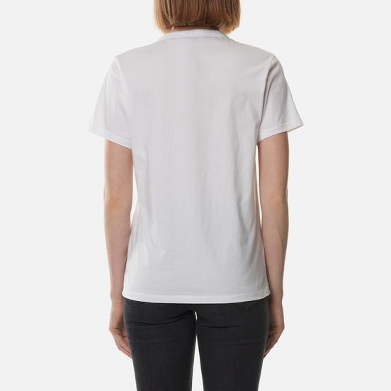 Женская футболка Maison Kitsune Varsity Fox Classic White
