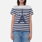Женская футболка Maison Kitsune Parisien Tower Striped Classic White фото - 2