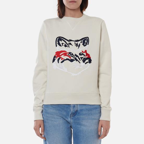 Женская толстовка Maison Kitsune Big Fox Embroidery Regular Off White