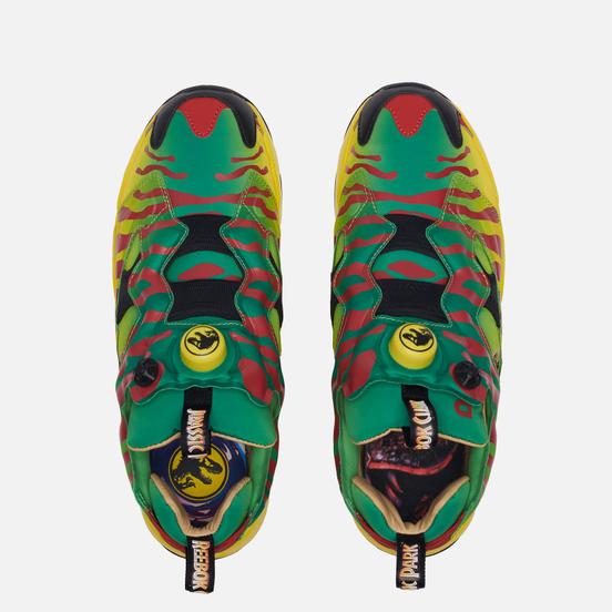Кроссовки Reebok x Jurassic Park Instapump Fury Green/Yellow/Red/Black