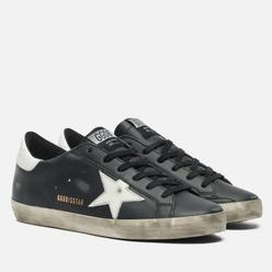 Женские кроссовки Golden Goose Super-Star Leather/Shiny Leather Star Black/White