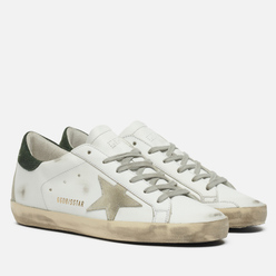 Женские кроссовки Golden Goose Super-Star Leather/Suede Star White/Ice/Military