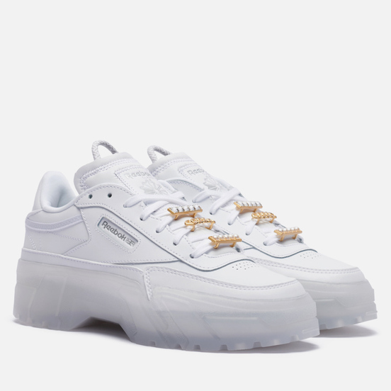 Женские кроссовки Reebok x Cardi B Club C White/White/White