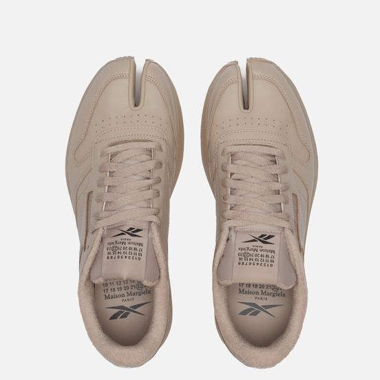 Мужские кроссовки Reebok x Maison Margiela Project 0 Classic Leather Tabi Beige/White/Black