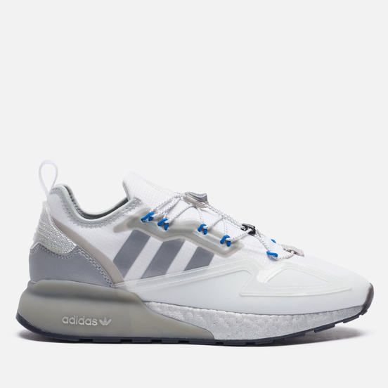 Мужские кроссовки adidas Originals ZX 2K Boost Safety White/Silver Metallic/Core Black